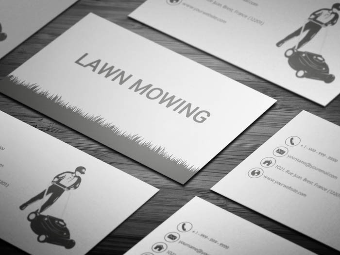 Lawn Mower Business Card
