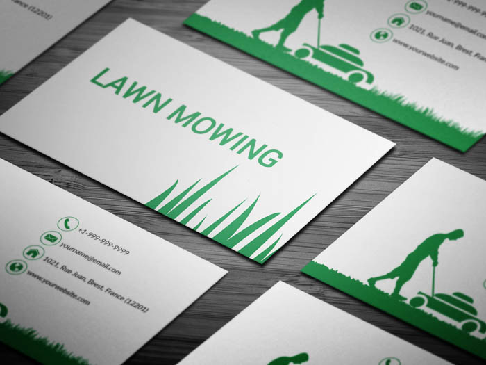 Free mowing business card template mowing business card colourmoves