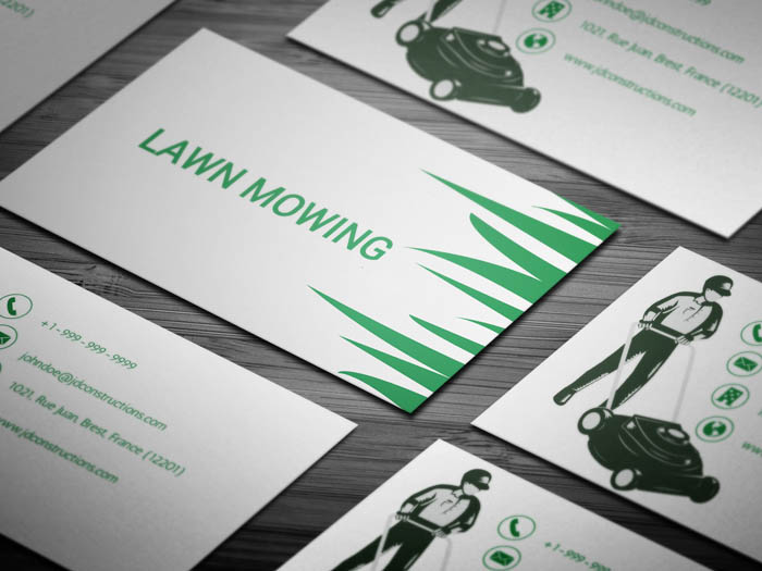 Lawn Maintenance Business Card