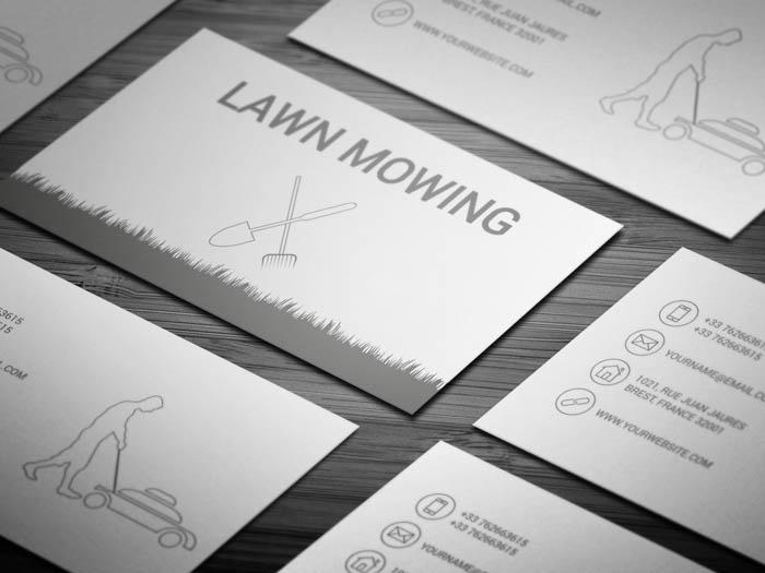 Grass Cutting Business Business Card