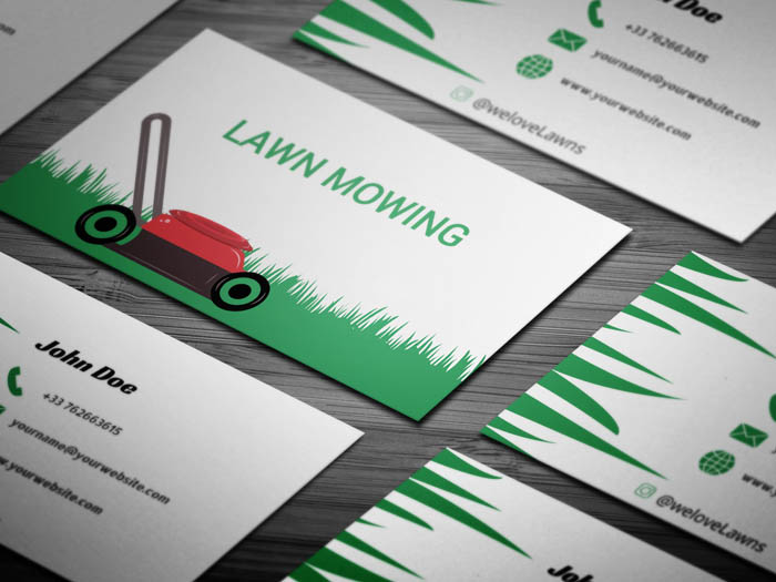 Free lawn mowing business card template lawn mowing business card colourmoves
