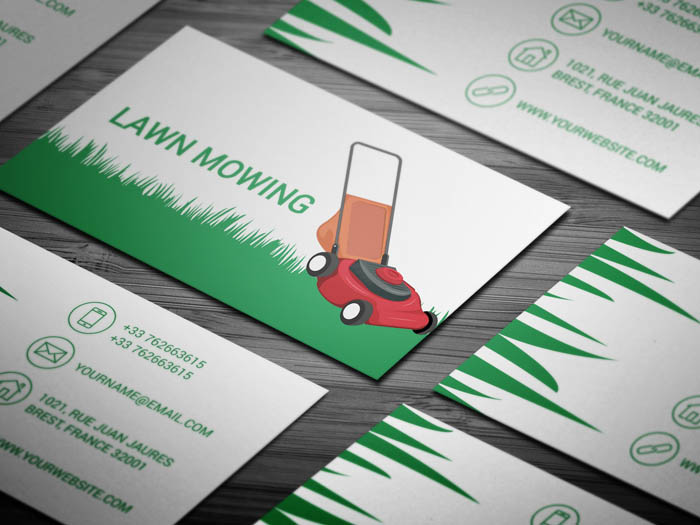 Free Lawn Care Business Card Template