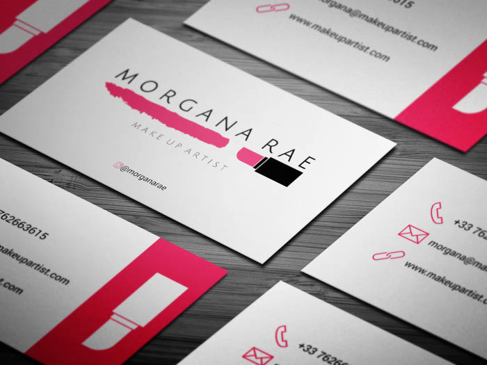 Freelance Makeup Artist Business Card