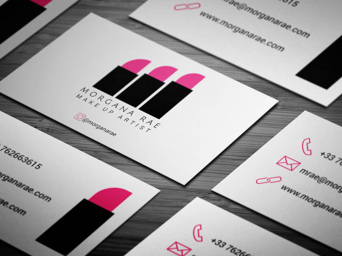 Hair And Makeup Business Card