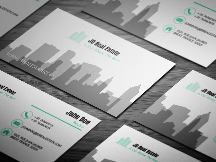Free Modern Real Estate Business Card Template