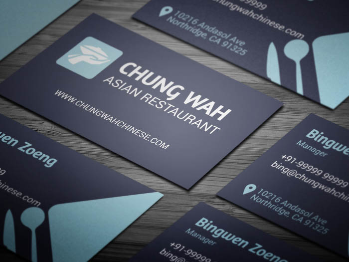 Dining Restaurant Business Card