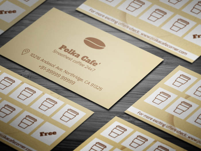 Cafe Membership Business Card