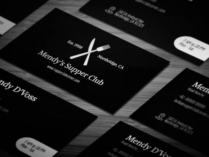 Artistic Restaurant Business Card