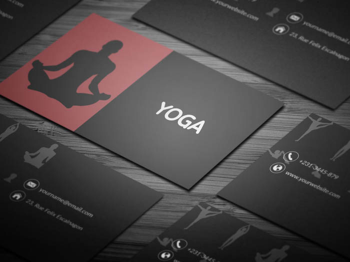 Yoga Visiting Business Card