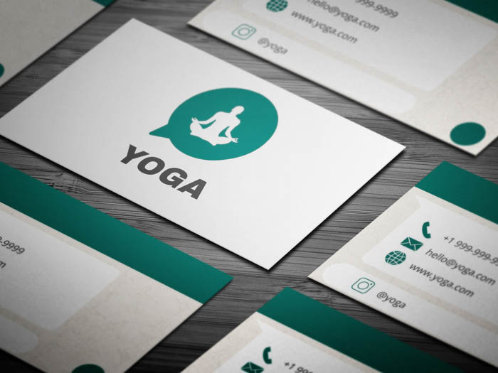 Whatsapp Themed Yoga Business Card