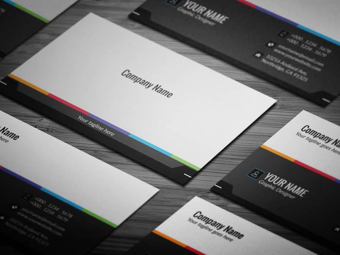 Minimalist Grey Business Card