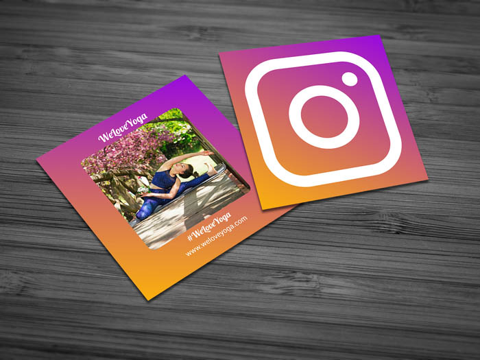 Free social media business card template social media business card accmission Image collections