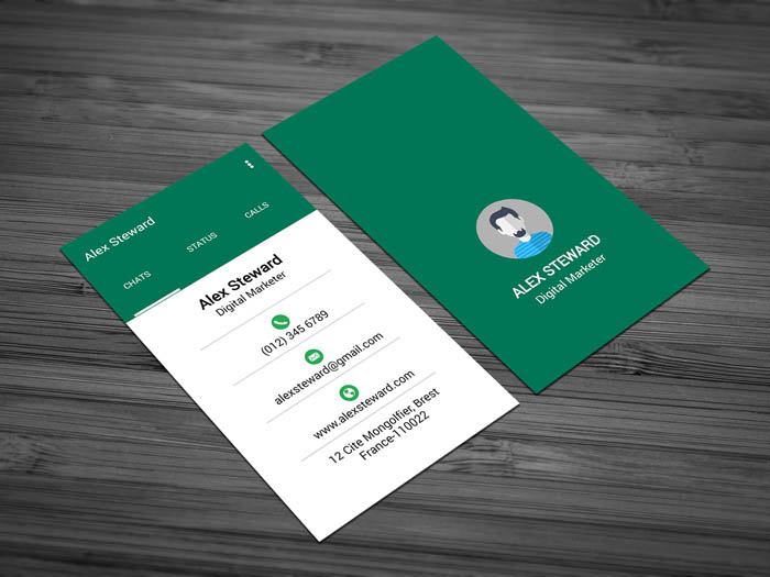 Whatsapp Themed Business Card