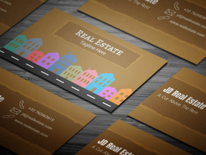 free commercial real estate business card template