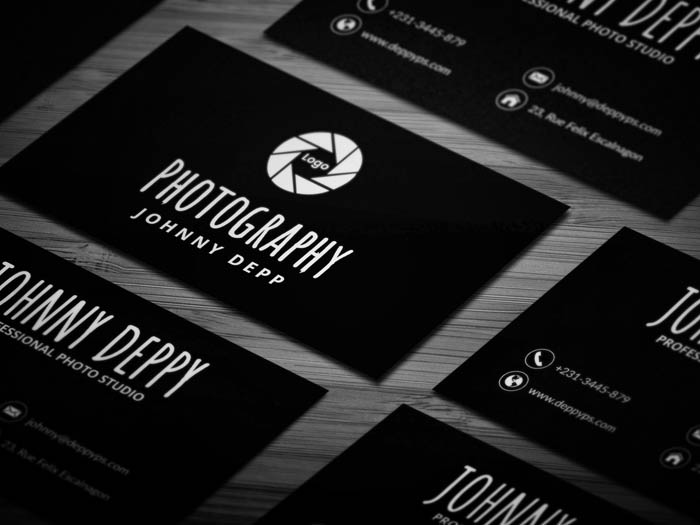 Free cool photography business card template free cool photography business card accmission Image collections