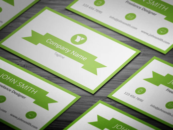 Minimal Green Business Card