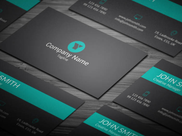Modern Green Business Card