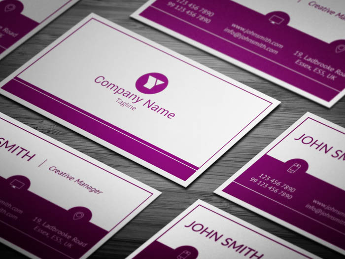 Woman Manager Business Card