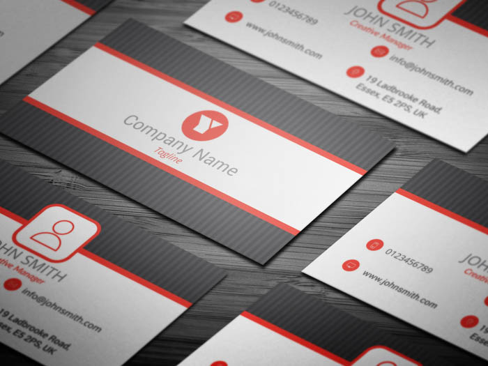 Grey Dot Business Card