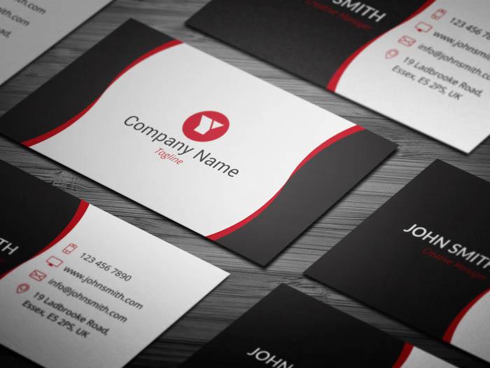 Sleek Web Designer Business Card