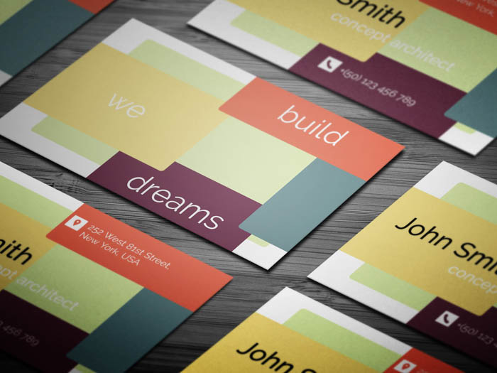 Fancy Architect Business Card