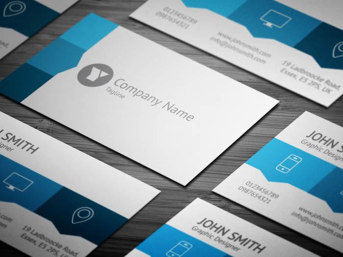 Blue Web Designer Business Card