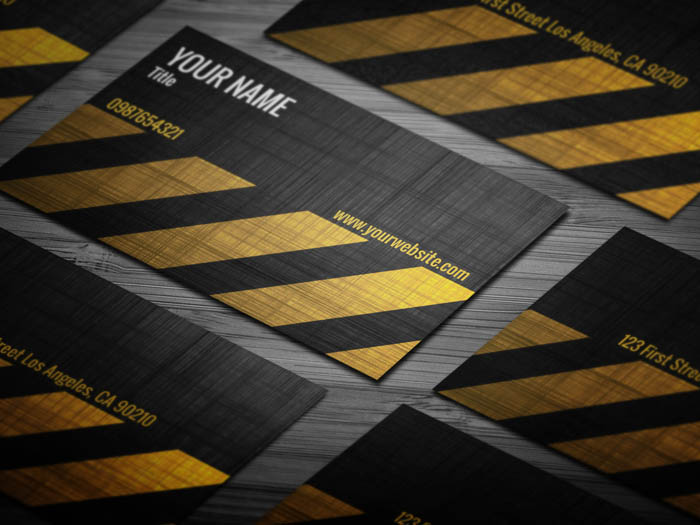 Grunge Construction Business Card
