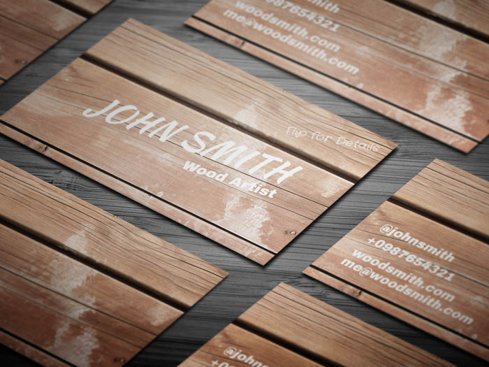 Wooden Texture Business Card