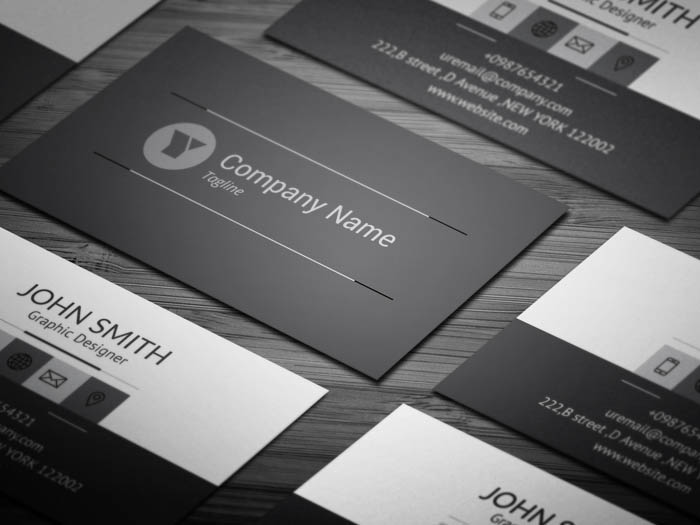 Charcoal Grey Business Card