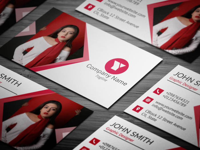 Designer With Photo Business Card