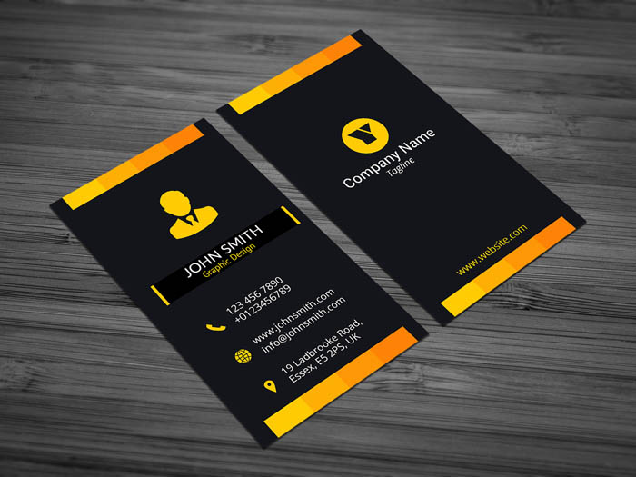 Free black portrait business card template black portrait business card accmission Choice Image
