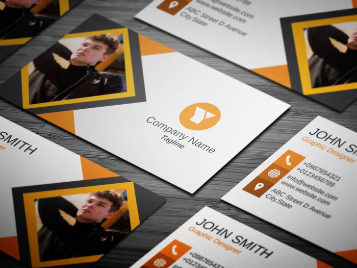 Journalist With Photo Business Card