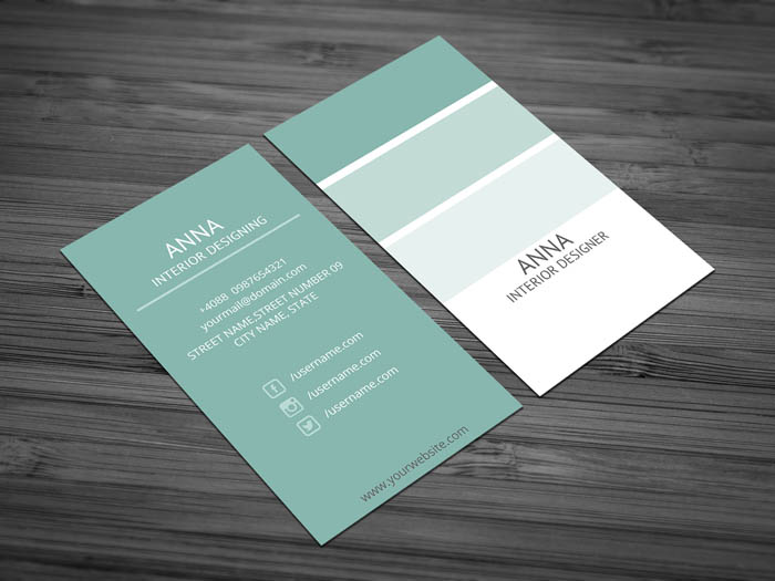 Free Interior Designing Business Card Template