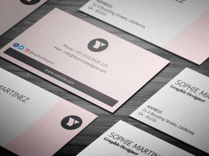 Free Female Fashion Designer Business Card Template