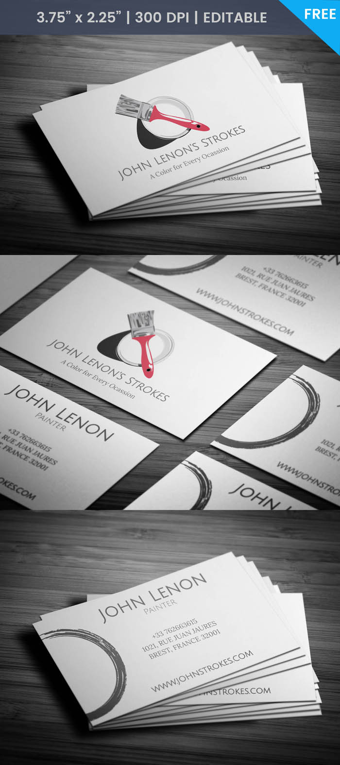 Free Painting Business Card Template