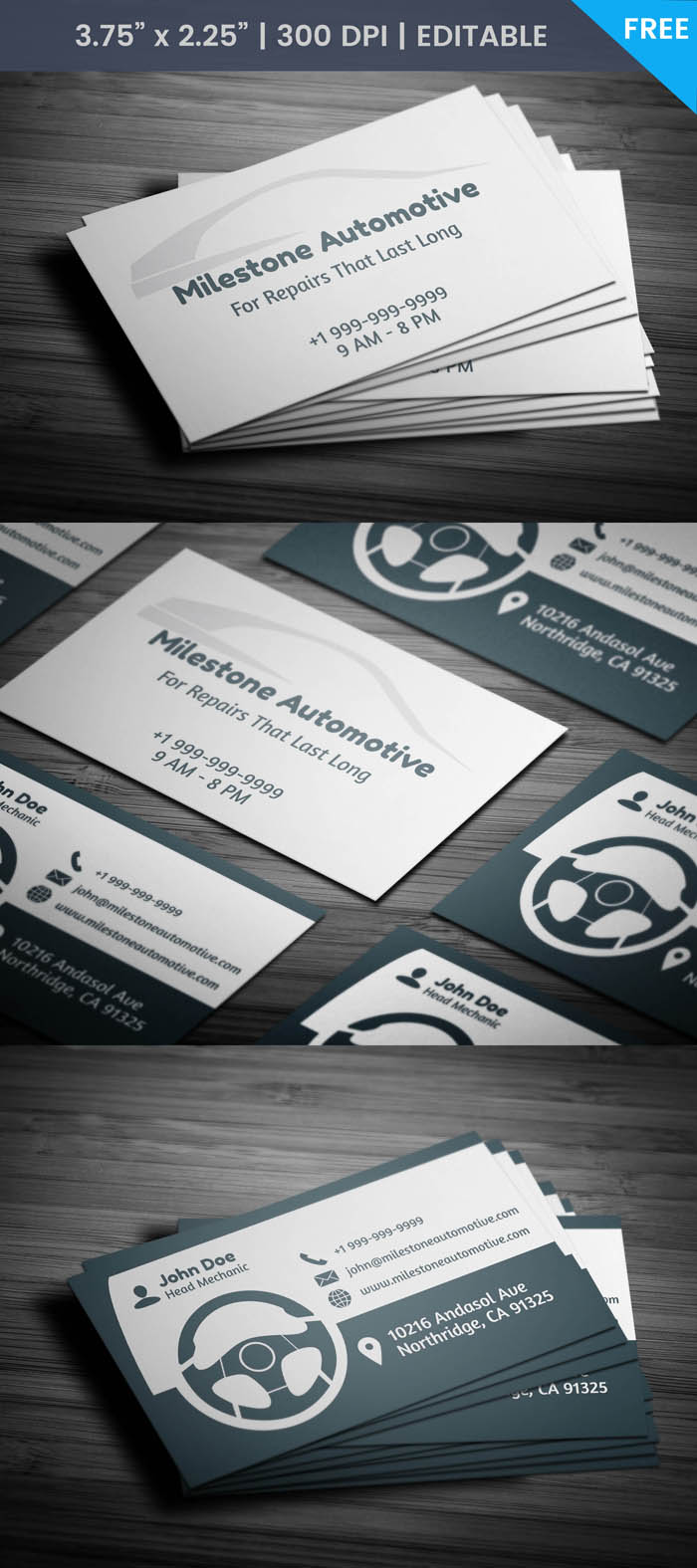 Free Auto Detailing Business Card Template