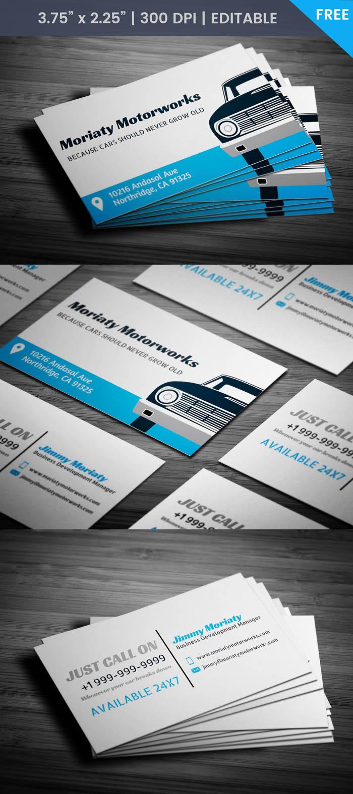 Free Car Repair Business Card Template