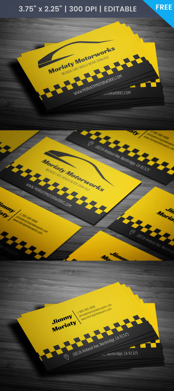 Free Car Business Card Template