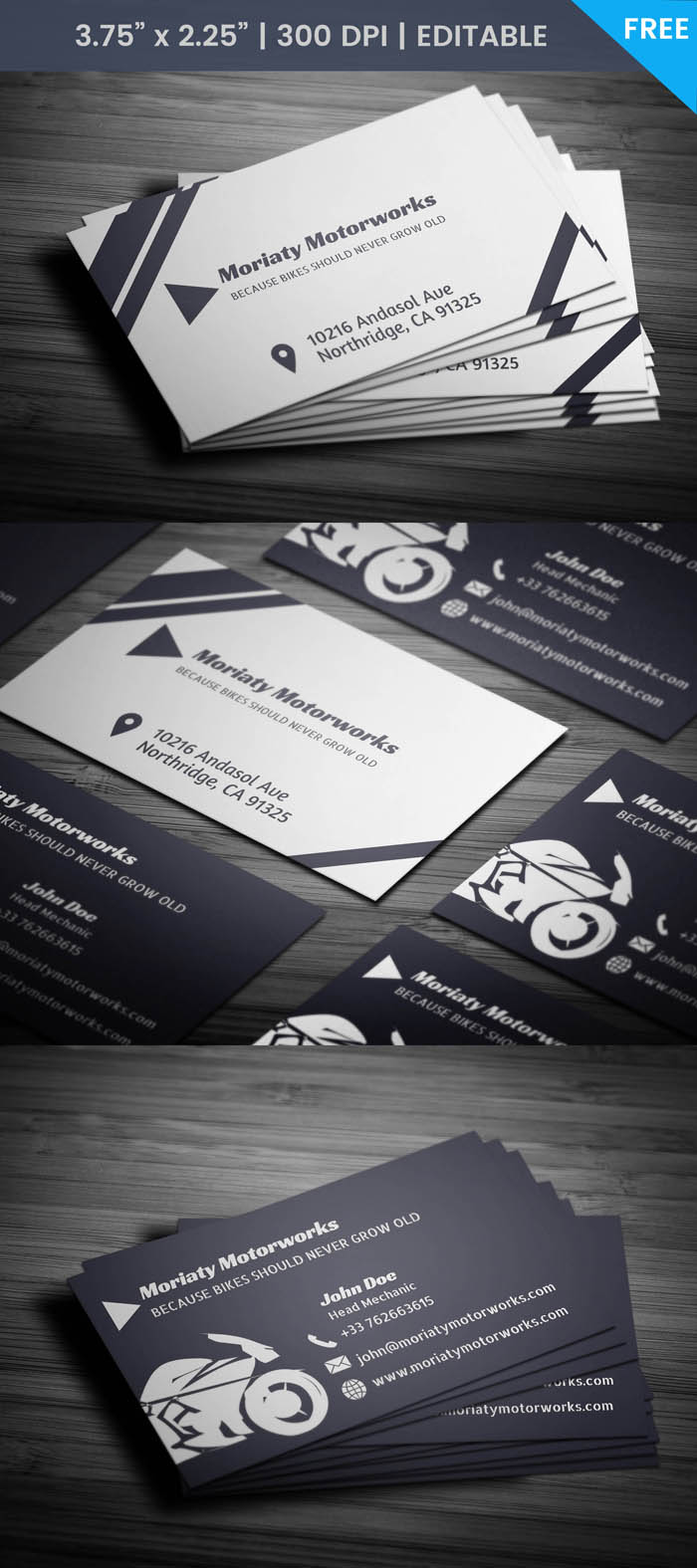 Free Automobile Business Card Template