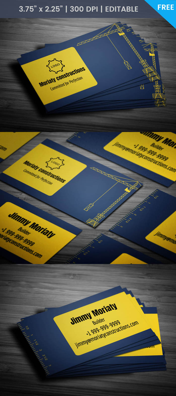Free Heavy Equipment Business Card Template