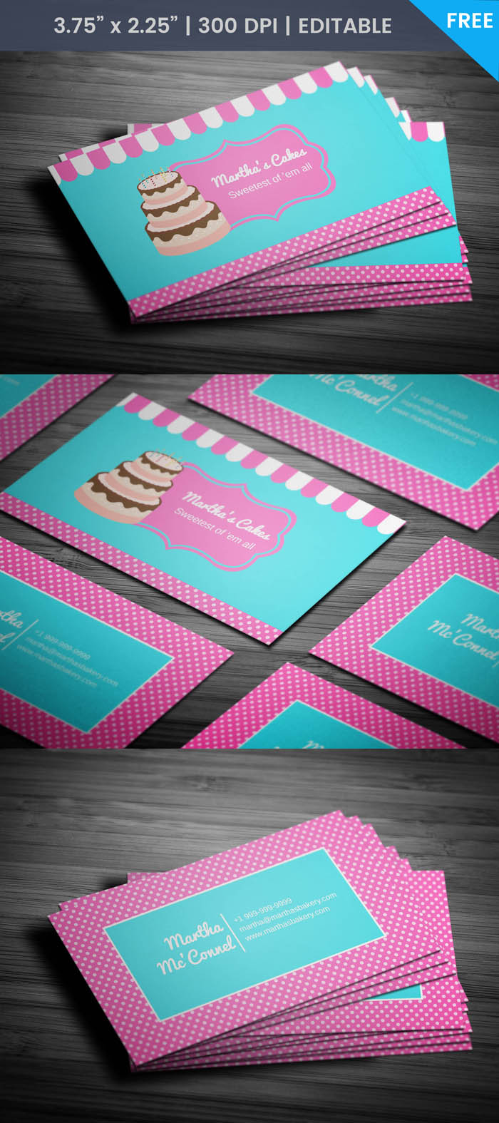 Free Baking Business Card Template