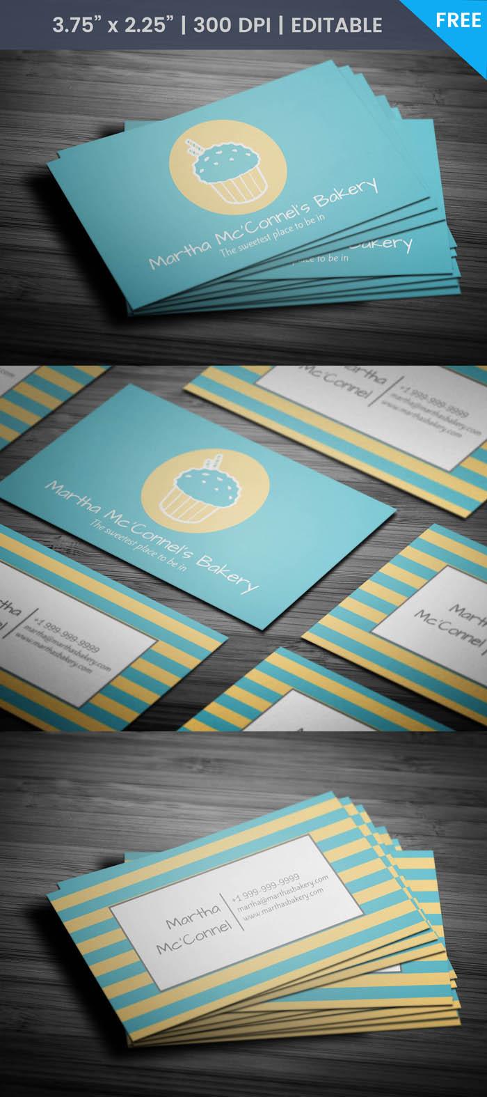 Free Baker Business Card Template