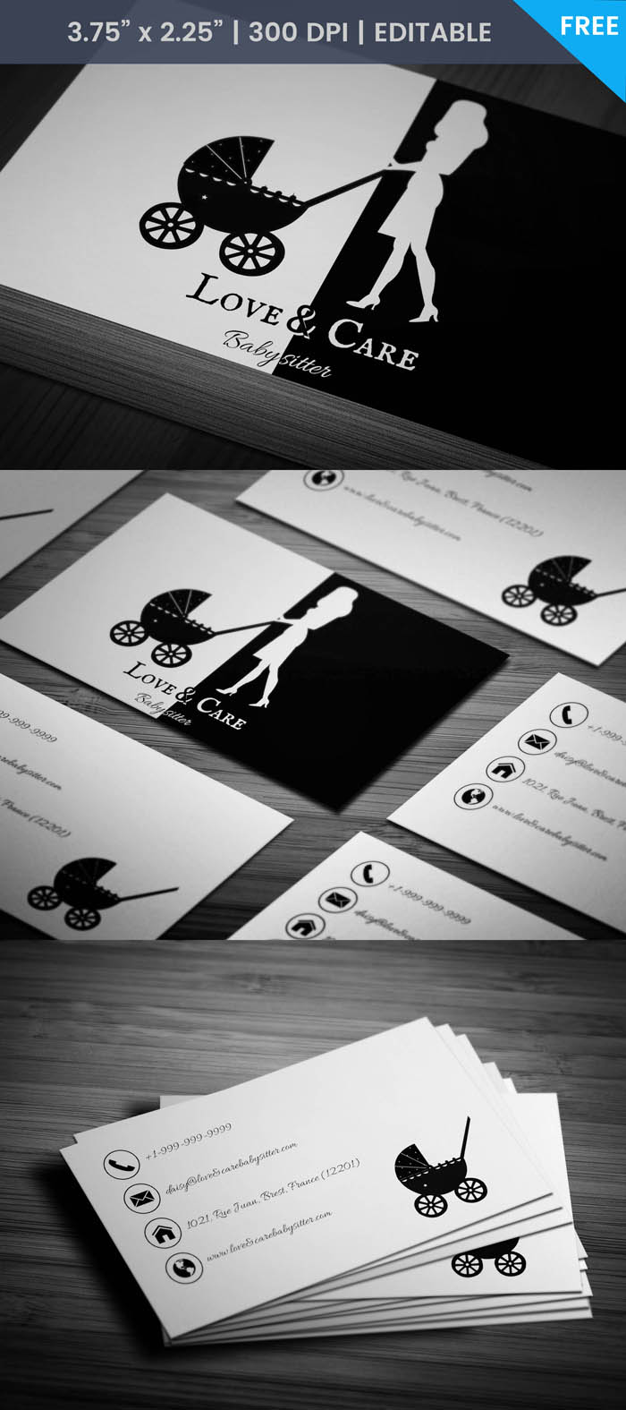 Free Daycare Business Card Template