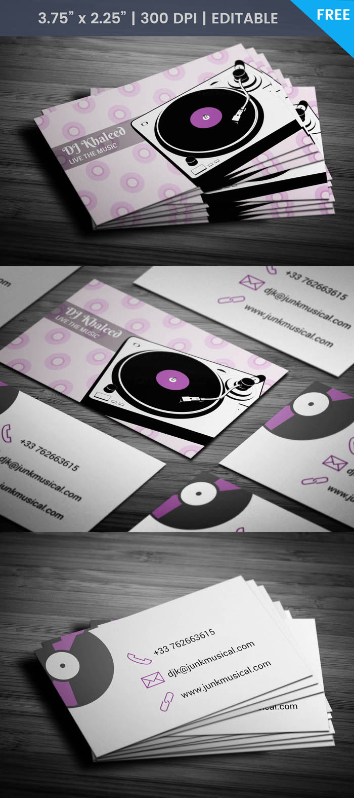 Free Turntable Business Card Template