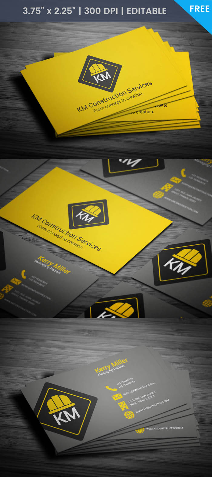 Free Renovation Business Card Template