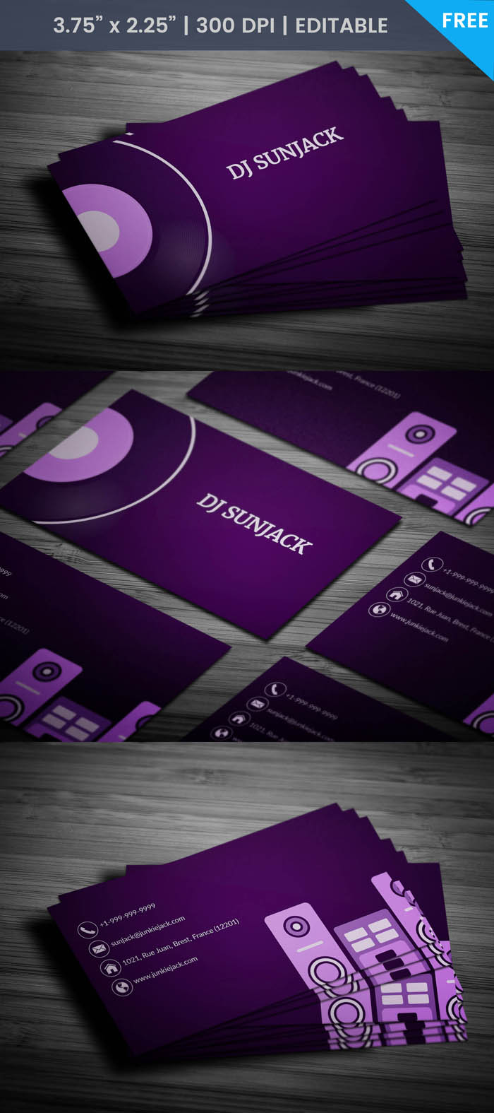 Free Disc Jockey Business Card Template