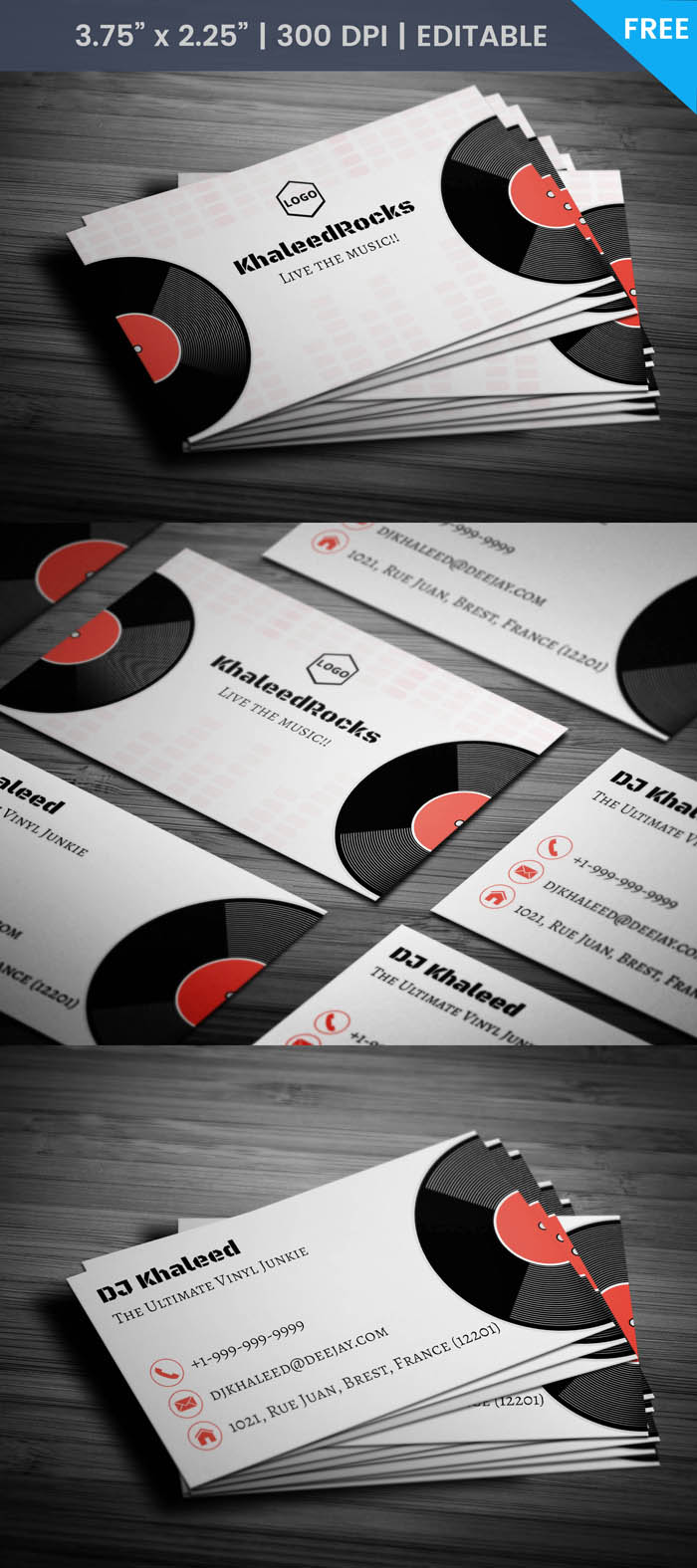 Free Night Club Business Card Template