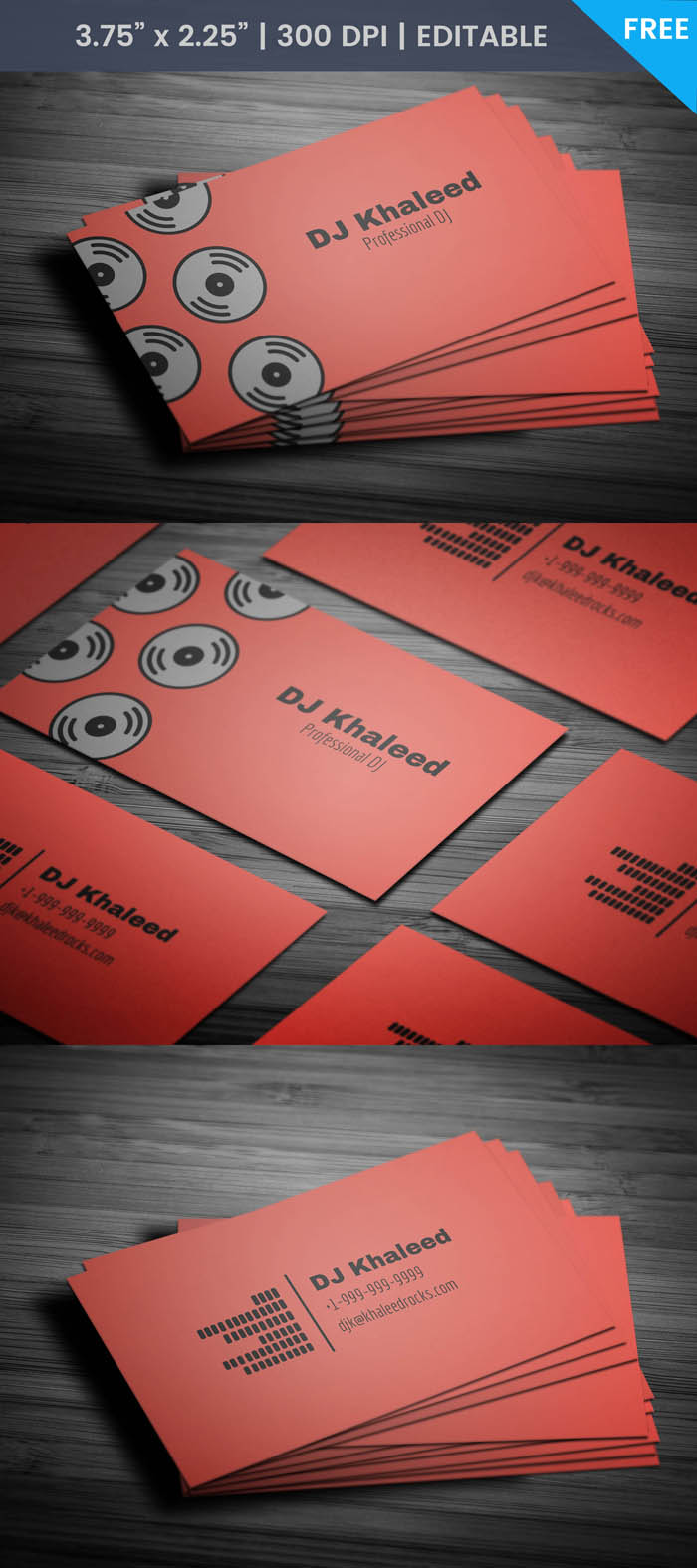 Free Simple Dj Business Card Template