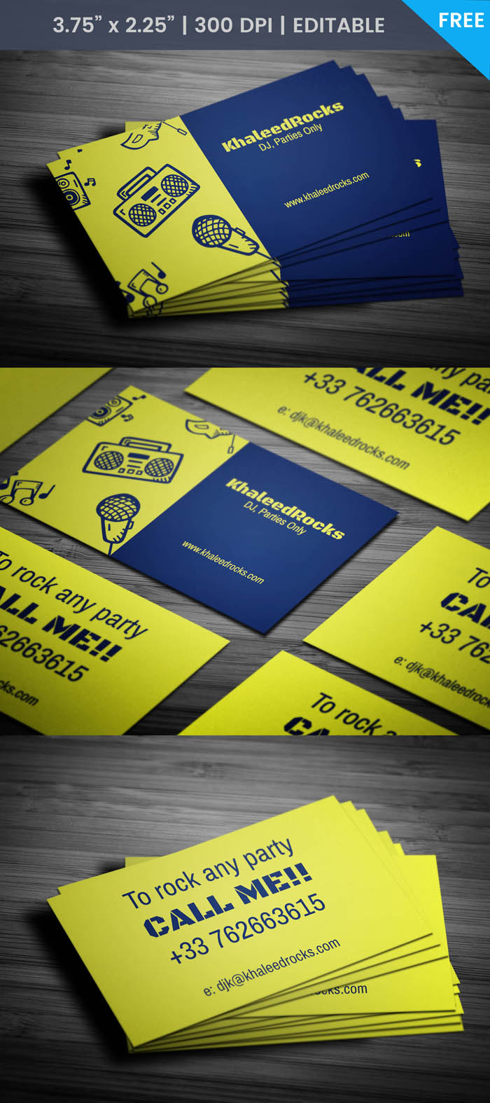 Audio Engineer Business Card - Full Preview