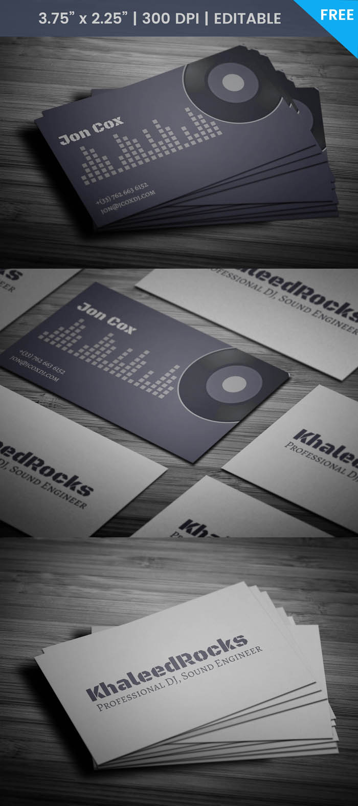Free Party Dj Business Card Template